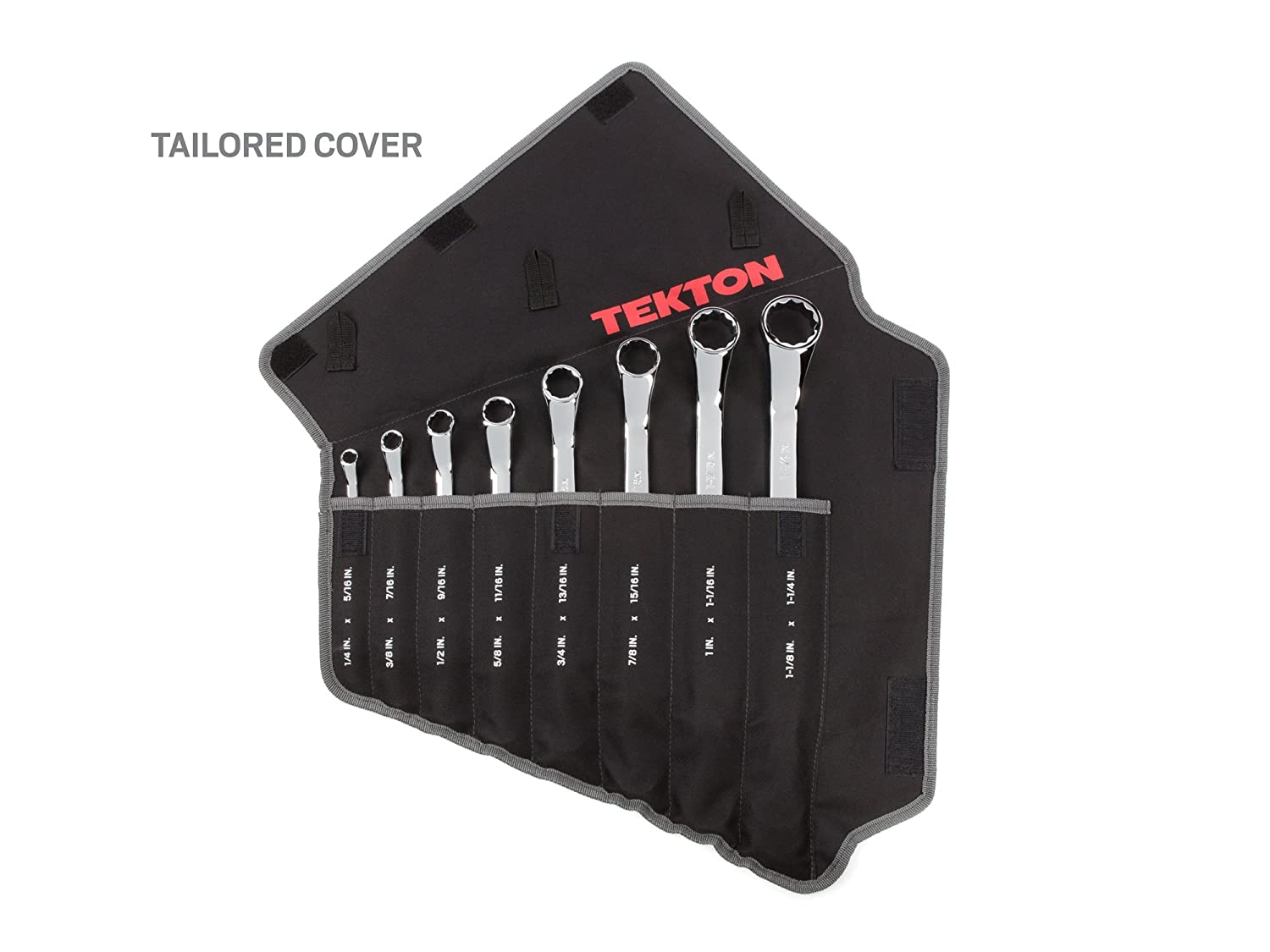 1//4-Inch TEKTON 45-Degree Offset Box End Wrench Set with Roll-up Storage Pouch 5-Piece 13//16-Inch WBE23505 Inch