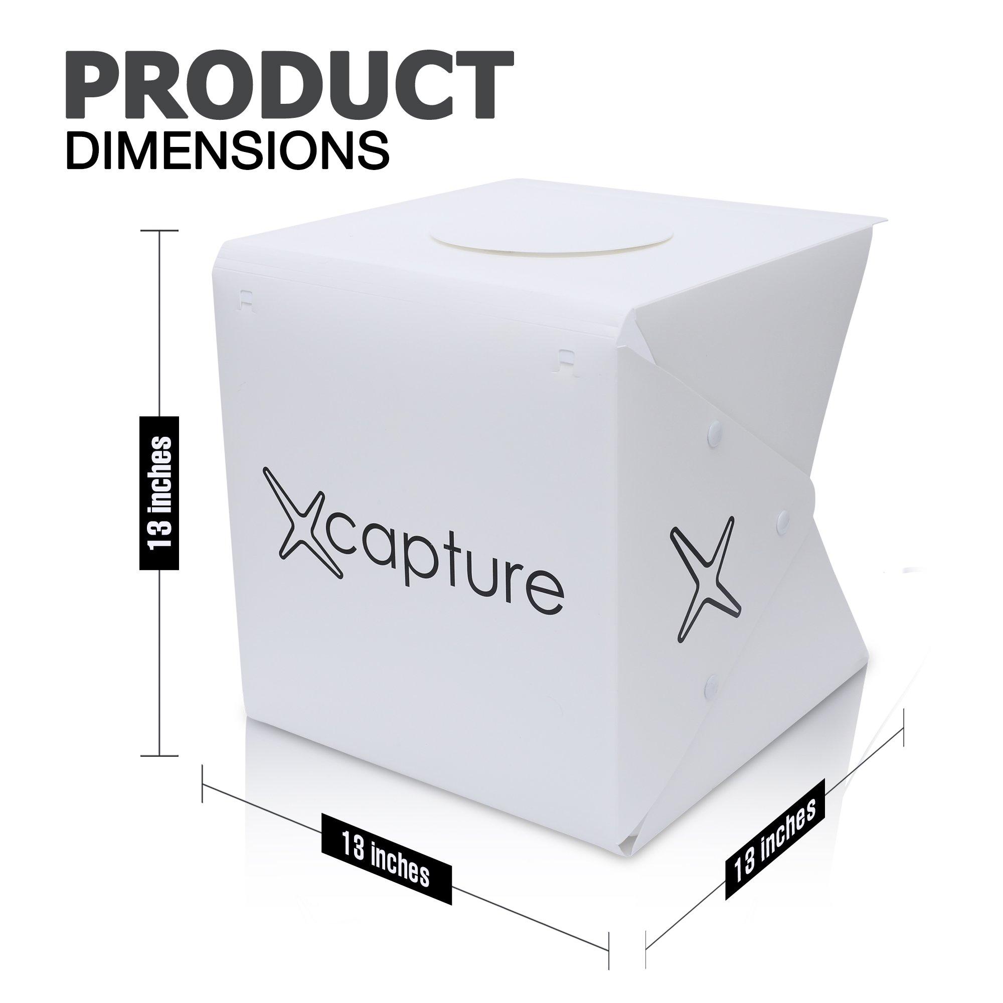 Capture Portable Photo Studio Box: LED Light Box Photo Tent- Large by Capture (Image #4)