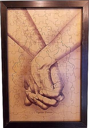 Amazon.com: Wedding Guest Book Alternative Wood Puzzle \