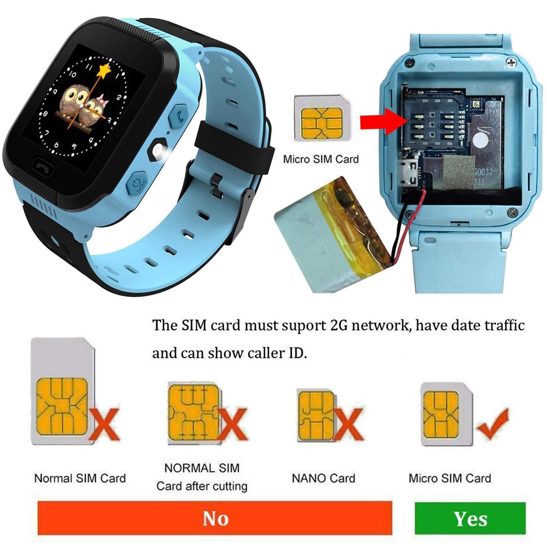 Xixini Estación Base para niños niños y niñas Posicionamiento del Reloj de Pulsera Smart Watch GM8 (se Necesita Instalar la Tarjeta SIM)