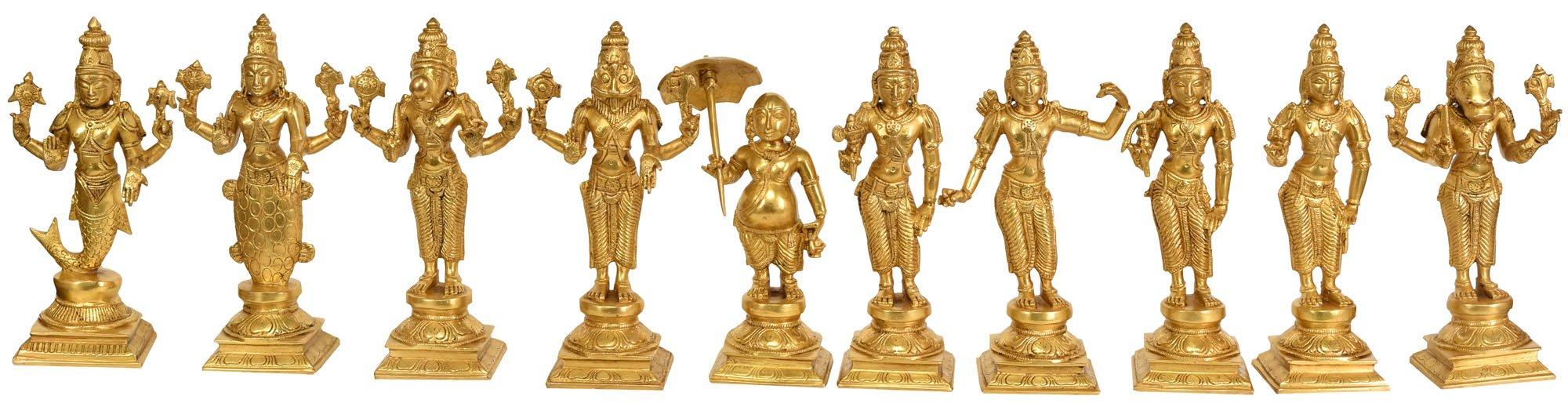 Exotic India ZCI83 Dashavatara (Ten Incarnations of Lord Vishnu)