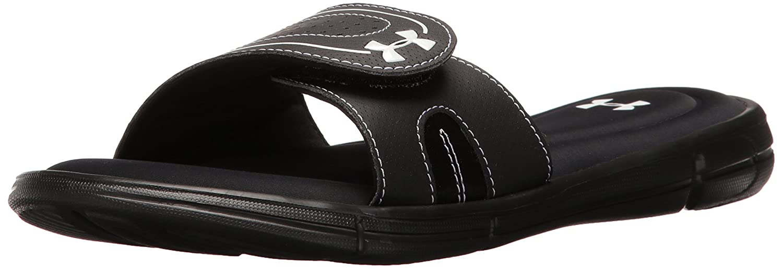 Under Armour Women's Ignite VIII Slide Sandal B01GSYUELQ 10 M US Black (001)/White