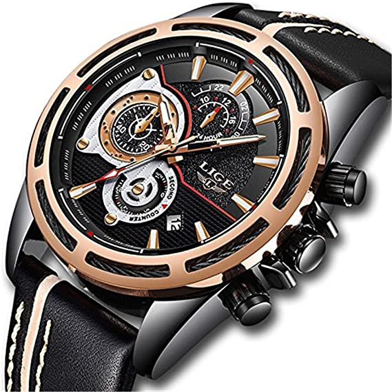 Relojes para Hombre Adecuados para cualquier ocasión con luminoso impermeable: Amazon.es: Relojes