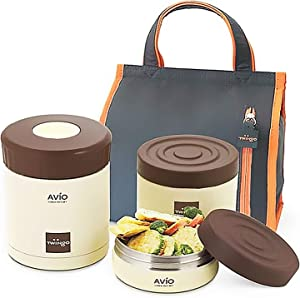 Twingo Vacuum stainless steel Thermos Thermal Lunch Box Food Container 980ml