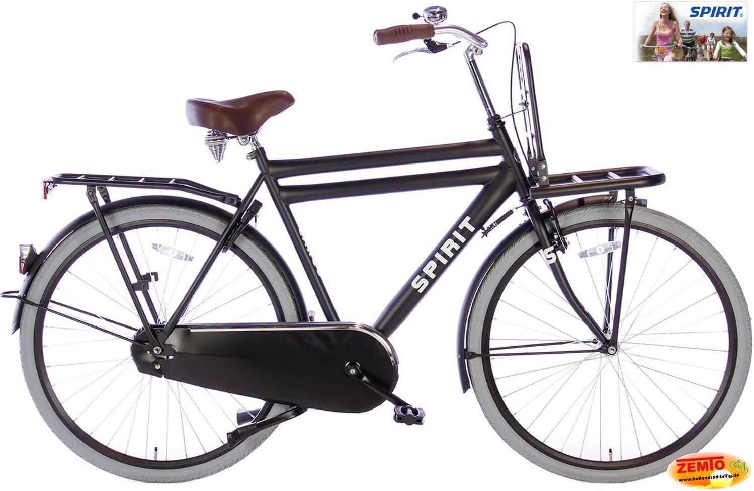 Spirit Bicicleta Holandesa para Hombre Cargo 28 Pulgadas Negro ...
