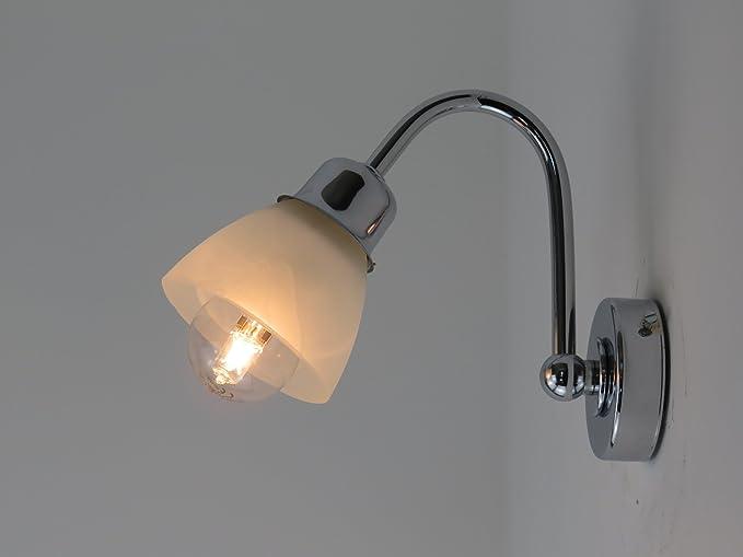 Applique lampada parete moderna e14 bagno specchio: amazon.it