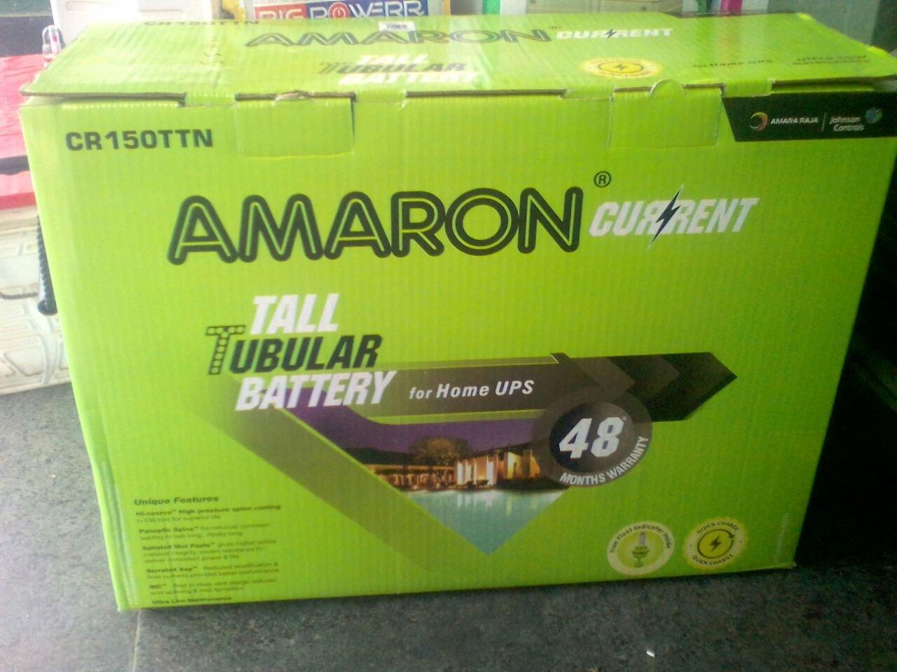 Amaron CR150TT 150 Ah Tall Tabular Battery