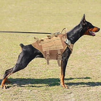 Yichener Arnés táctico de Nailon para Perro, arnés para Perro ...