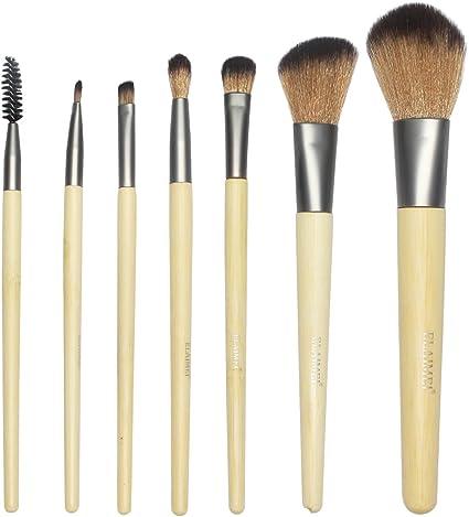 LeSB 8 en 1, 7 Unidades Brochas y Pinceles de Maquillaje con Mango de Bambú /Juego de Cepillo de Maquillaje, Incluido el Estuche: Amazon.es: Belleza