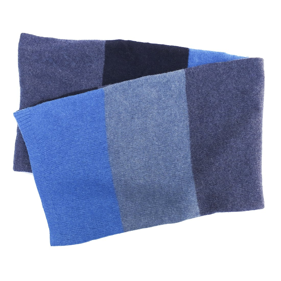 Blue Pacific Men's Cashmere Color Block Scarf Denim