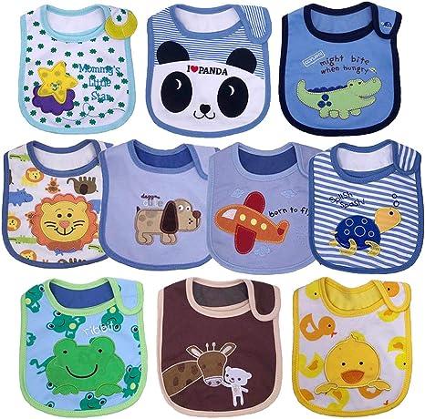 Yafane 10X Baberos Bebé Impermeables Algodón Baberos absorbentes Bandana Drool para Bebé Niños de 3 a 24 Meses: Amazon.es: Bebé