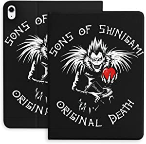 Anime D_EA-TH N-OT_E Compatible with iPad Air 4th 10.9in Generation Protective Case, Shockproof Durable TPU Soft Protective Cover with Pen Holder, The Automatic Sleep/Wake Function