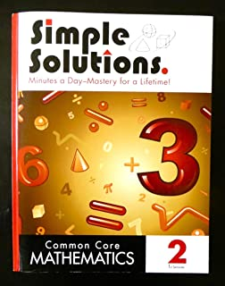 Simple solutions math level 3 nancy l mcgraw 9780972873000 simple solutions common core mathematics 2 1st semester fandeluxe Images