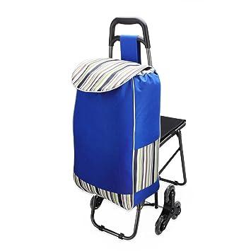walmar escalada plegable carrito de la compra con asiento integrado, Aluminio supermercado carrito de la compra dibujados: Amazon.es: Oficina y papelería