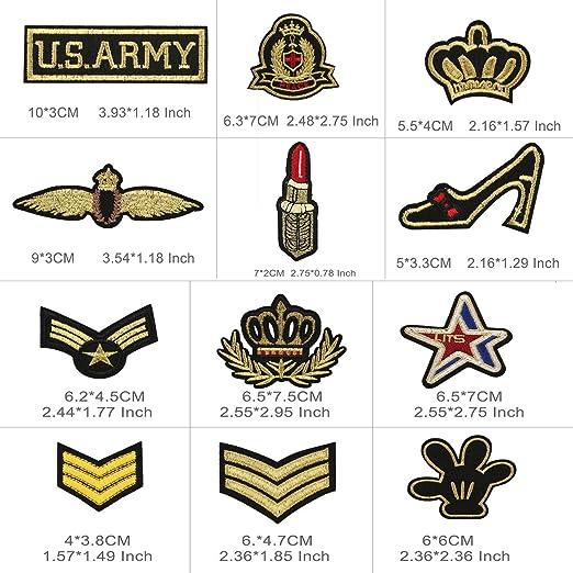Patch Sticker, Tatuer 30 Piezas Hierro en Parches Pegatina de Parche Costura de Apliques Parche de Bordado para Cute DIY Ropa Chaquetas Mochilas Jeans ...