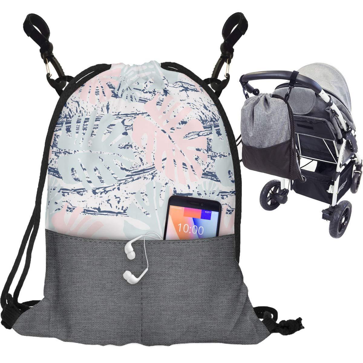 075 Kinderwagen Organizer Buggy Tasche Baby Wickeltasche Trolley Kinderwagentasche mit Befestigungshaken Modische Universal Turnbeutel Organizer F/ür Mutter Flamingo