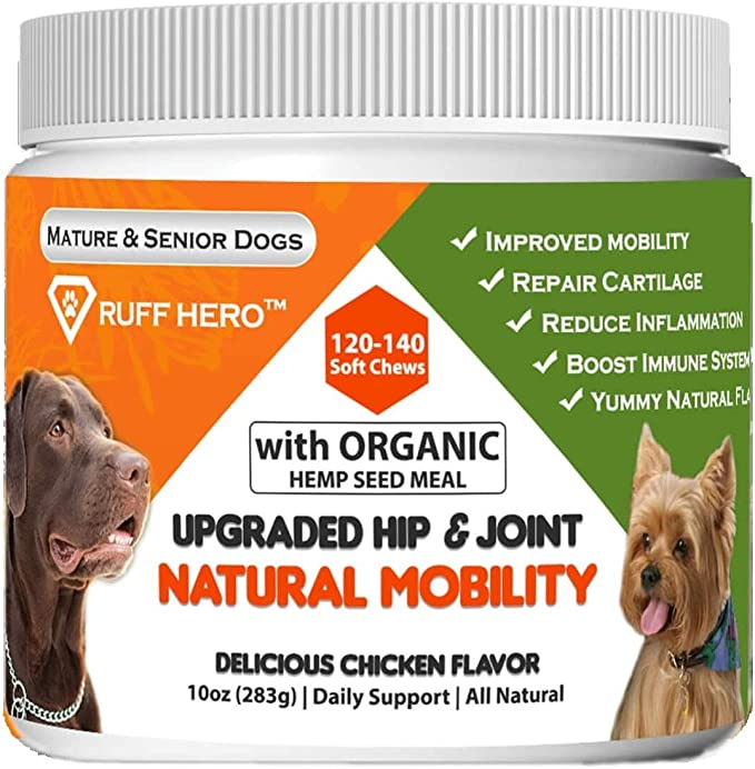 Ruff Hero Glucosamine Chondroitin Joint Supplement - Editor's Top Pick