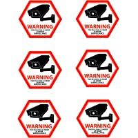 Security Camera Decal Warning Stickers, CCTV Video Surveillance Recording Signs from Vinyl for Indoors, Outdoors; Front…