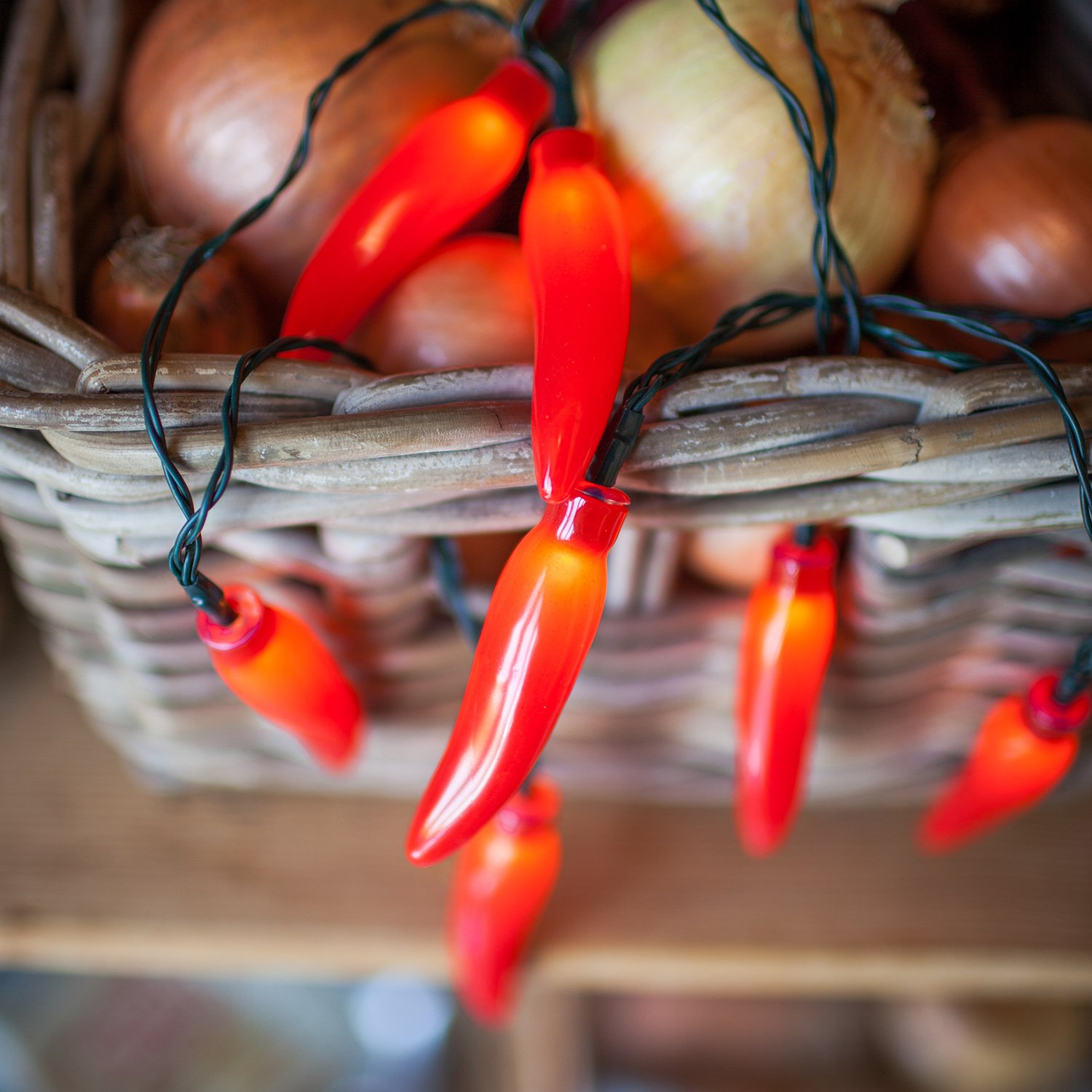 20 red chili pepper battery operated led kitchen
