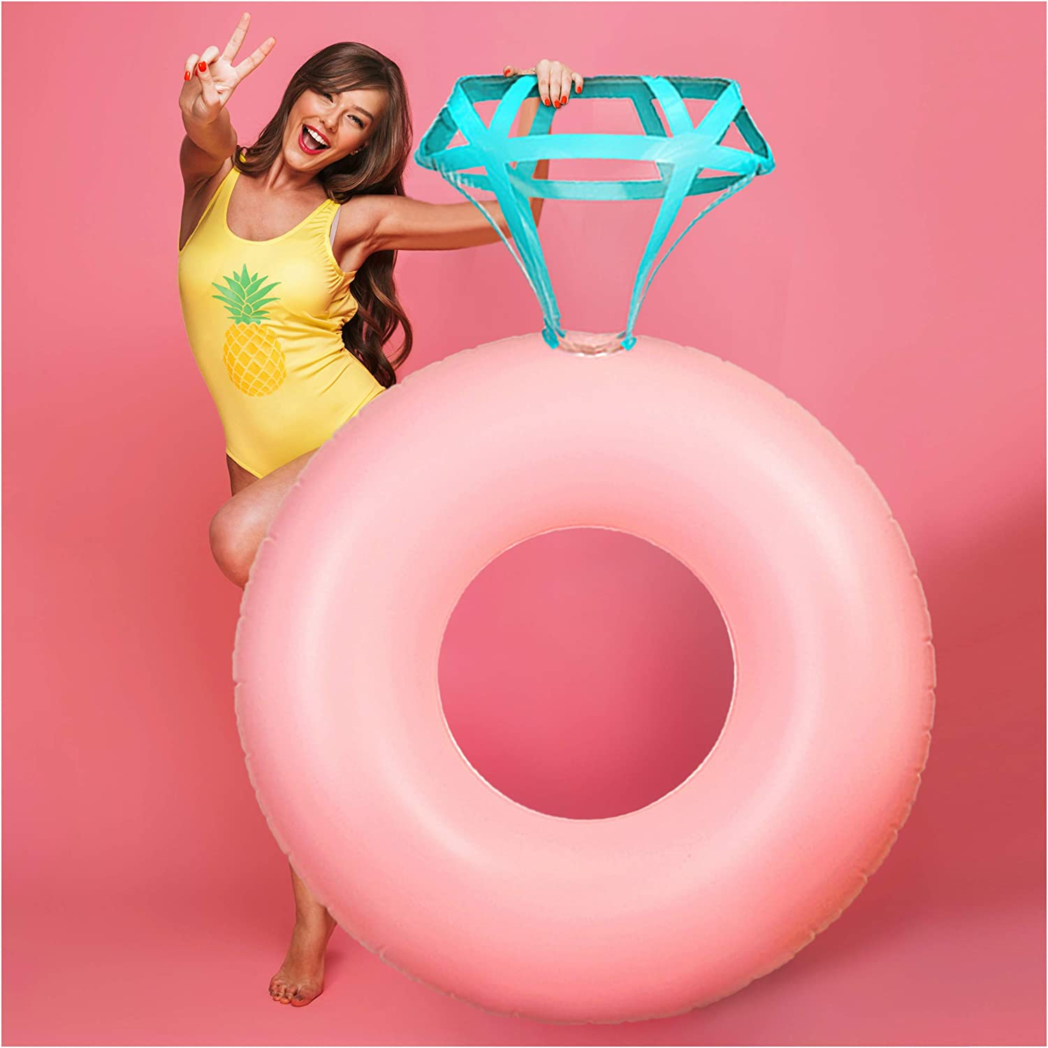 Amazon.com: J&A Homes - Flotador de piscina con anillo de ...