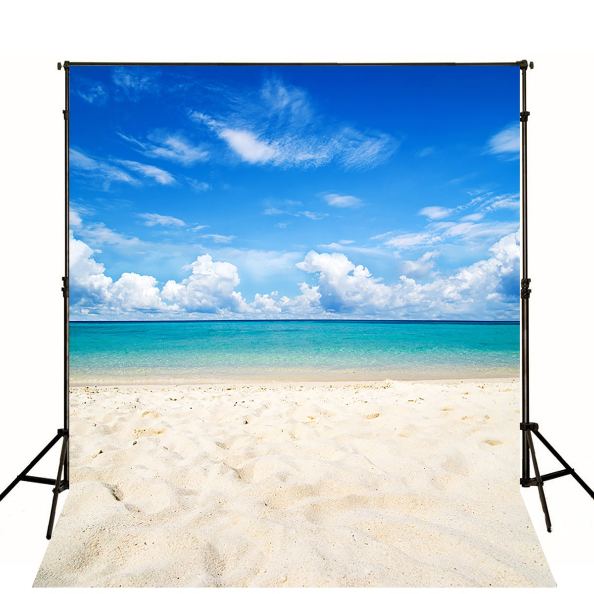 2019人気特価 6.5 cm X 10ft Backdrop ( 200cmx300 cm ) Beach Backdrop B072C439M4 Photo Studio印刷海の背景幕背景砂ブルースカイfor Photographyer B072C439M4, ノダムラ:f5bc8a34 --- arianechie.dominiotemporario.com