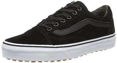 be2a28e84b9 Vans Old Skool MTE Black Leather Men s Classic Skate Shoes Size 6.5