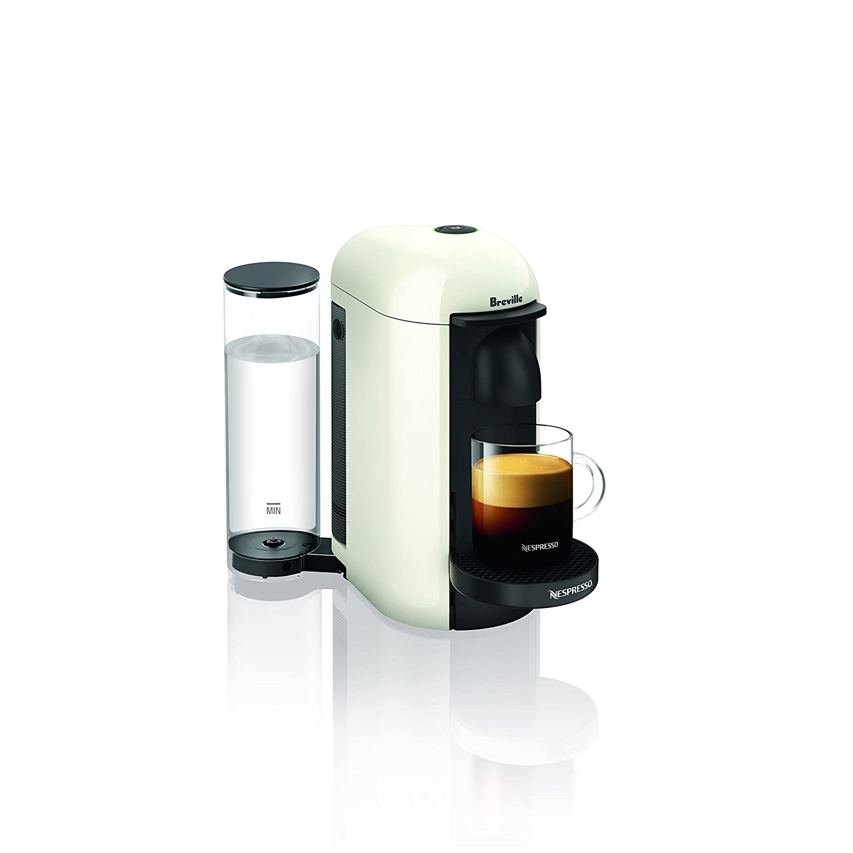 Breville BNV420WHT1BUC1 VertuoPlus Coffee and Espresso Machine, White
