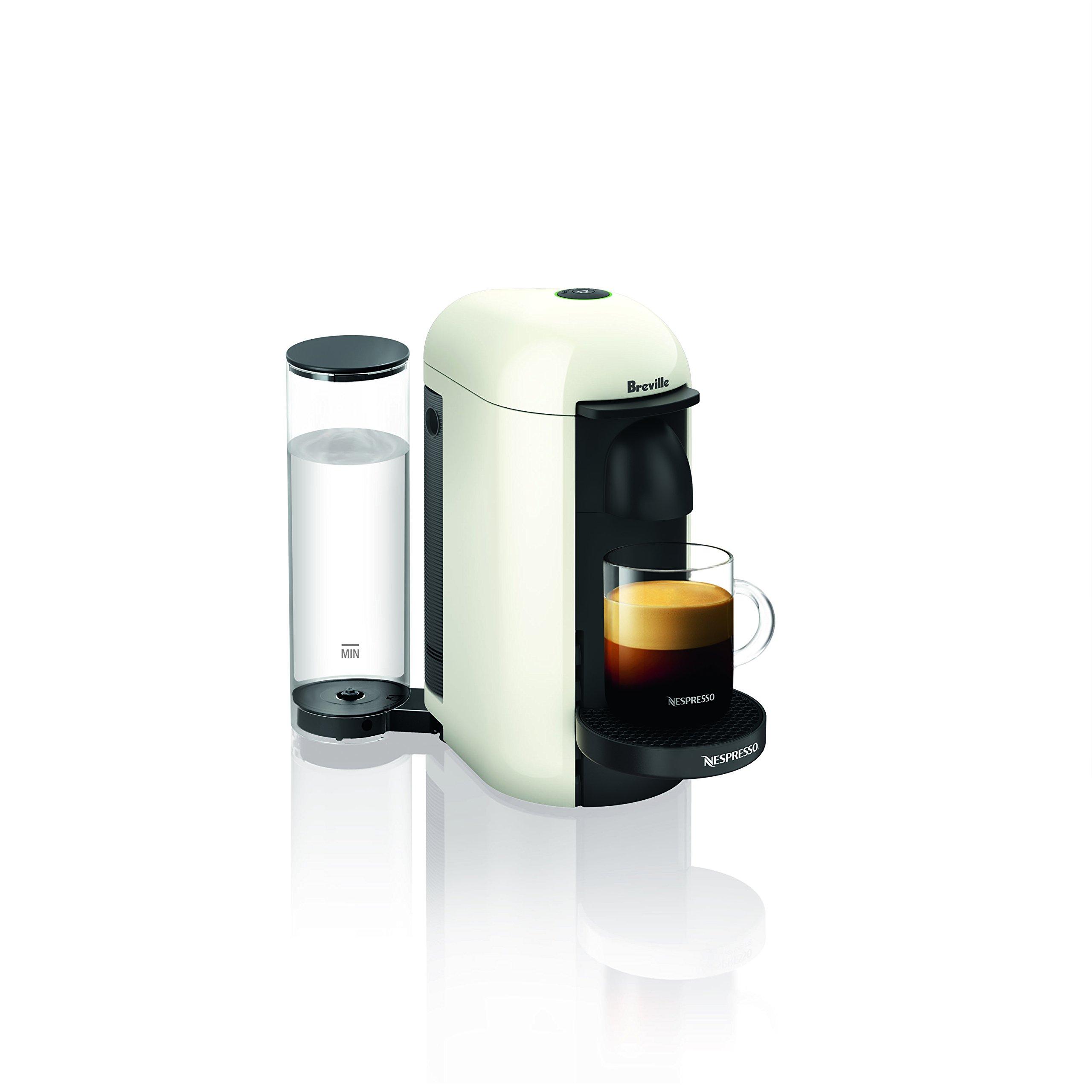 Nespresso VertuoPlus Coffee and Espresso Machine by Breville, White