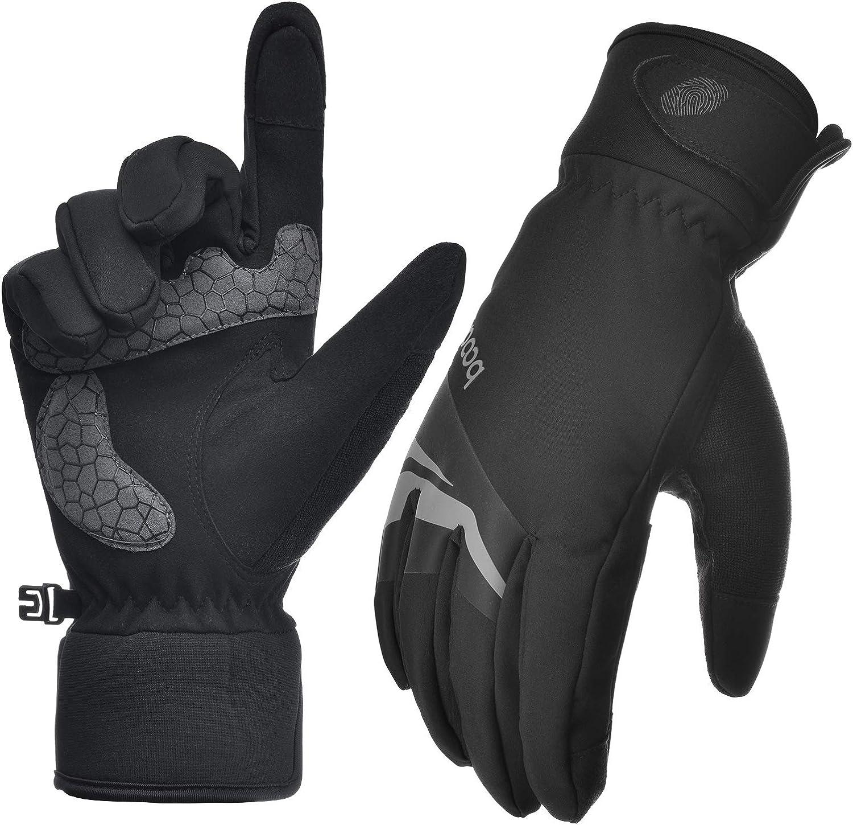 Men//Women Anti-slip Winter Warm Windproof Waterproof Thermal Bike Ski Gloves