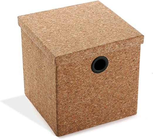 Quo 2454140031 - Caja de de Corcho 26 x 26 x 25 cm - Marron ...
