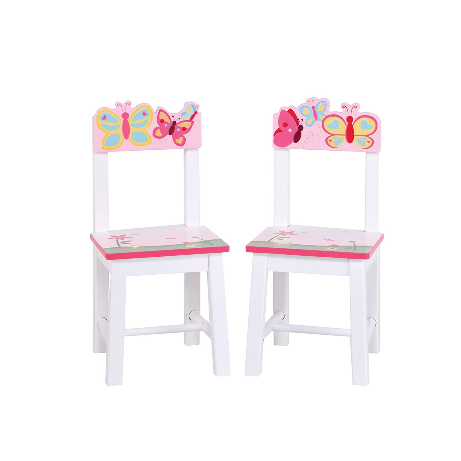 Guidecraft Wood Hand-painted Butterfly Buddies Extra Chairs (Set of 2) G86603 26761