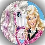 Fondant Tortenaufleger Geburtstag Barbie T14 1