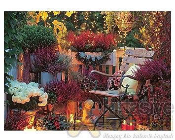 Keskin Color 500 Parça çiçekli Balkon Puzzle 49x34 Cm