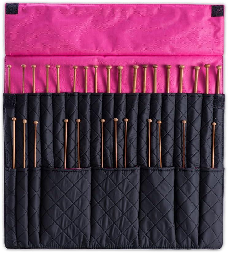 Denoa – Estuche para agujas de tejer ganchillo gancho plegable organizador viajes Wrap: Amazon.es: Juguetes y juegos