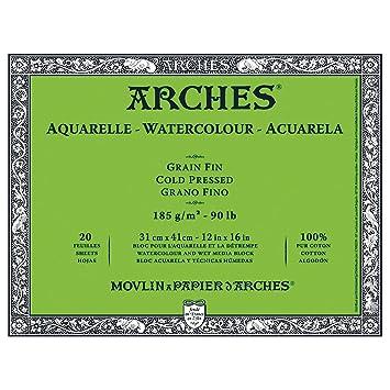 naturwei/ß 31 x 41 cm Canson 200177169 Arches Aquarell