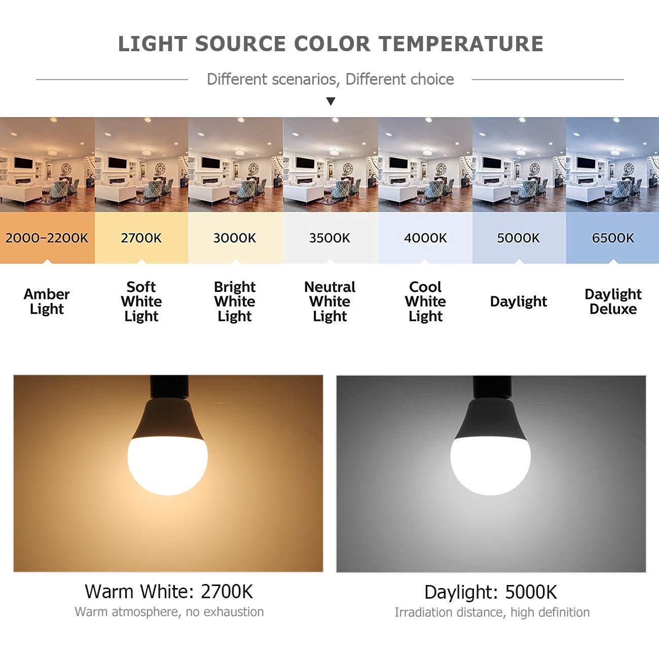 Goyaesque LED Candelabra Light Bulb E12 Base Bulbs G45 Globe Light Bulb 2700K Warm White 6W A15 Ceiling Fan LED Light Bulbs E12 Pack of 6. Non Dimmable