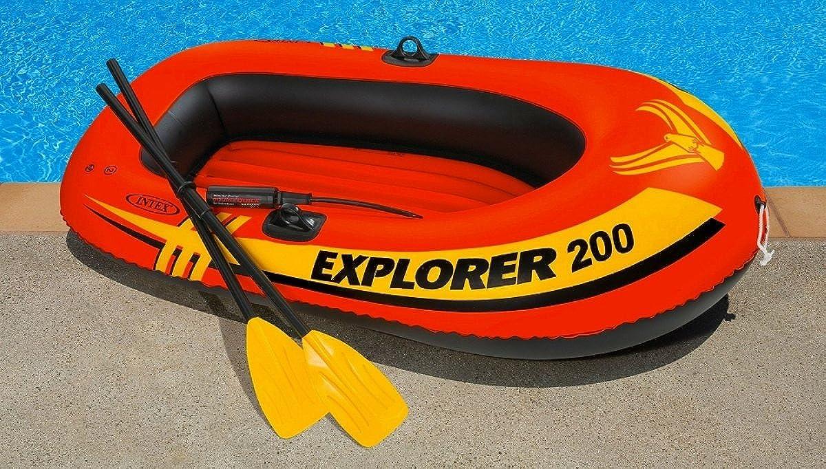 Amazon.com : Intex Explorer 200, 2-Person Inflatable Boat Set with ...