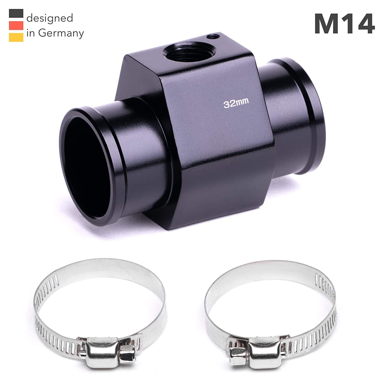 M14 Adapter K/ühlerschlauch K/ühlmittel Wasser Temperatur Geber Gewinde M14 metrisch Zusatz Instrument 38mm, 95/° // 90/°