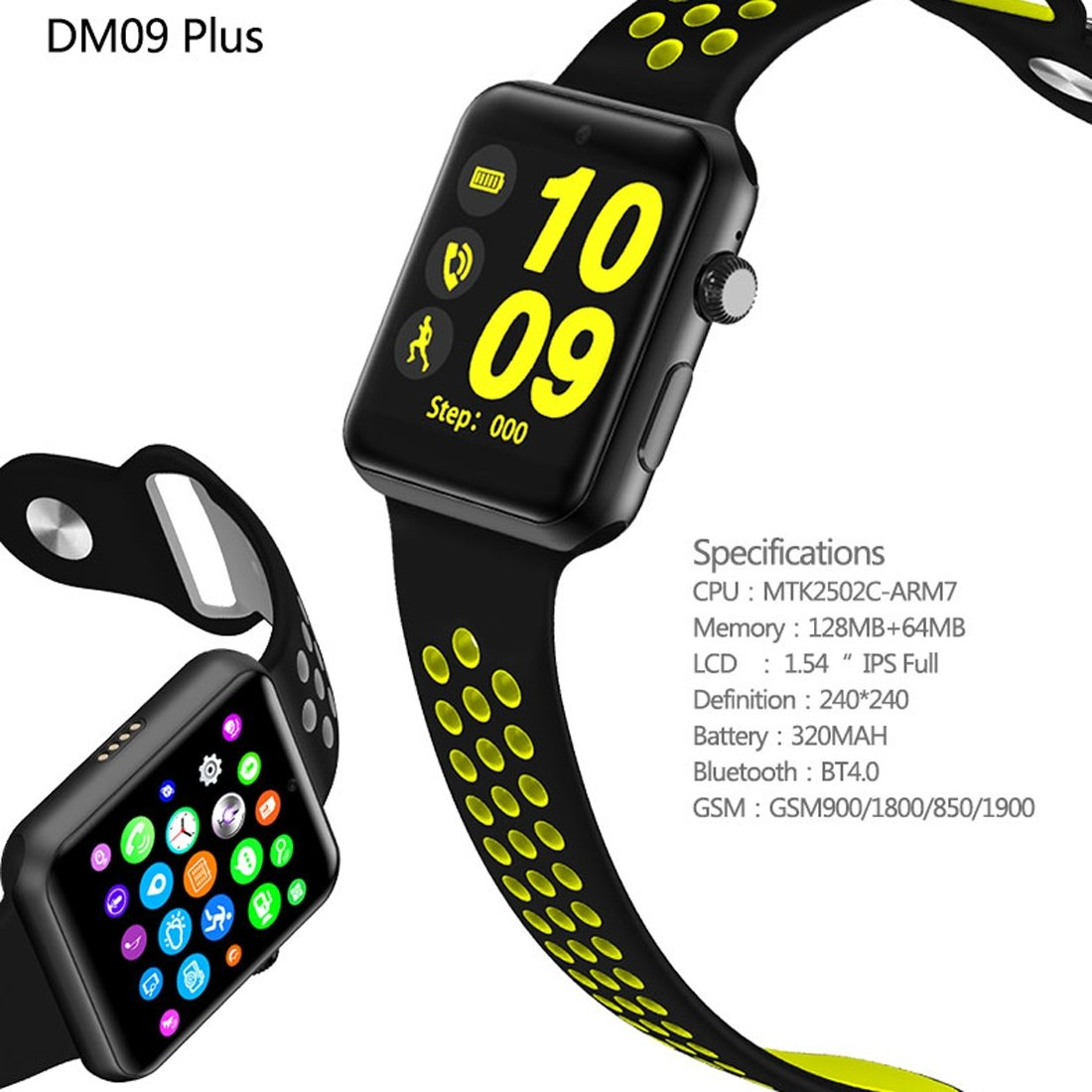 DOMINO DM09 Plus Smart Watch Phone 128MB + 64MB 1.54 Pulgadas IPS ...