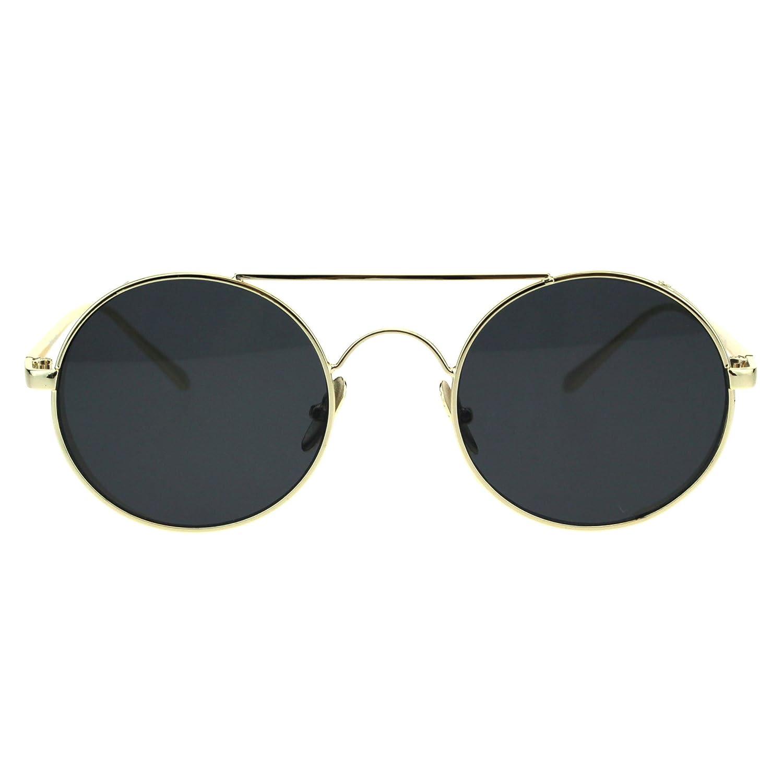 anteojos de sol dorado sol redondas con metal lente circular de ...