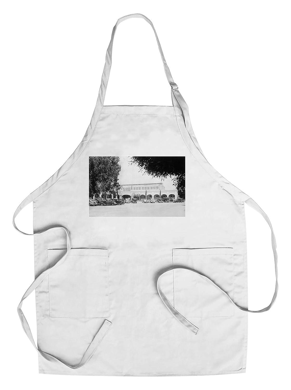 ボイズホットスプリング、カリフォルニア州 – の外部のビュー水泳Pavilion Chef's Apron LANT-12394-AP B018BTOG92  Chef's Apron