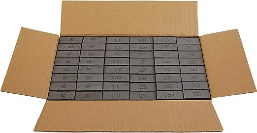 Nass-und Trockenschleifschwamm vierseitig 5er Set Schleifschw/ämme Schleifklotz grau K 100 mittlere K/örnung