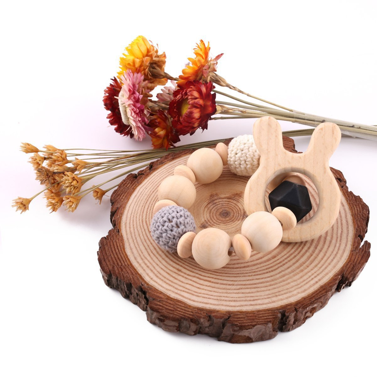 Best for baby Pulsera para mama Teether de madera Chupete ...