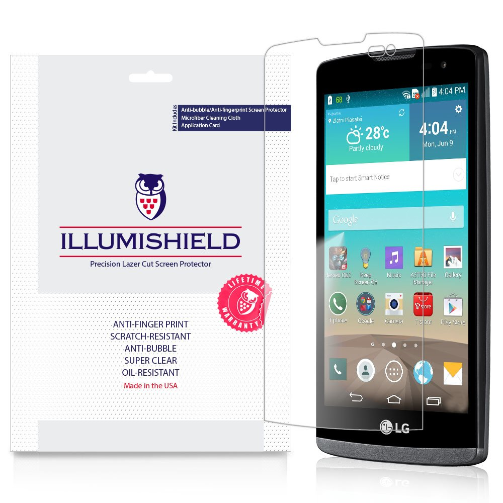 LG Leon Screen Protector [3-Pack], iLLumiShield - Japanese Ultra Clear HD  Film with Anti-Bubble and Anti-Fingerprint Shield