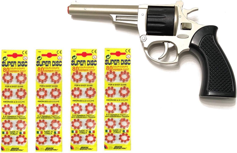 Outletdelocio. Revolver metalico del Oeste Kansas con 320 fulminantes en Aros de 8 tiros. 56164/4-62517