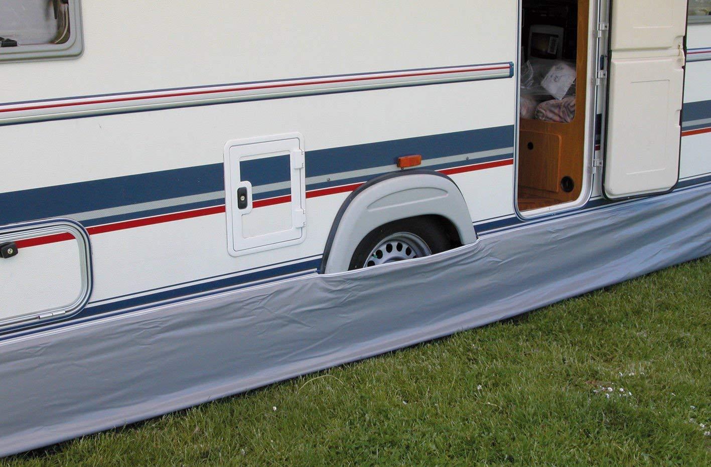 Eurotrail Caravan Awning Draught Skirt 450 x 60 cm Grey Universal