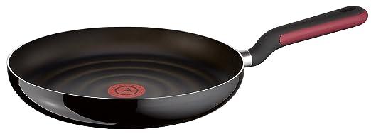 Tefal Comfort Grip - Sartén de aluminio de 30 cm con exterior negro esmaltado, antiadherente con extra de titanio, para todo tipo de cocinas (excepto ...