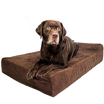 Cama ortopédica para perros de lujo, forro impermeable con cremallera, se puede secar en