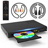 Tojock Blu Ray DVD Player DTS Sound Effect Upscaling TV CD DVD 1080P Player with 5ft HDMI AV Cables, Built-in PAL NTSC…