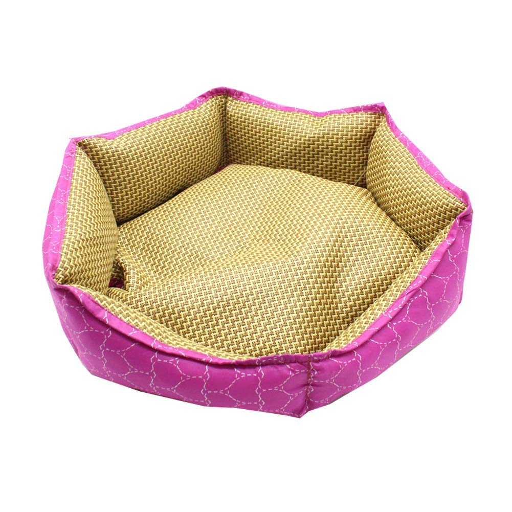 Pink Kennel Pads Dog Beds Waterproof Dog Pet Cat Bed Mat Cushion Mattress Washable Cat Bed Pet Supplies Cover (color   Pink)